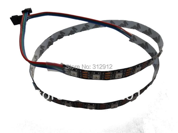 1 m DC5V WS2812B negro PCB led píxel srip, no resistente al agua, 60 piezas WS2812B/M con 60 píxeles