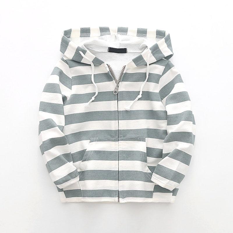 2018 primavera outono crianças jaqueta para meninos e meninas com capuz crianças outwear jaqueta casual tarja zíper meninos casaco bc268