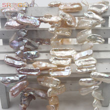 Livraison gratuite 9x18mm perles en gros Reborn Baroque dents naturel perle deau douce bijoux perles brin 15 pouces