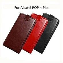 Alcatel Pop 4 Plus 5056D Wallet PU Leather Silicone Cover Phone Case For Alcatel One Touch Pop 4 Plus 5056D Flip Protective Case