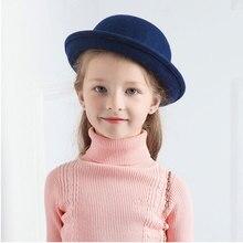 Детская фетровая шляпа для мальчиков и девочек, фетровая шляпа для девочек и мальчиков