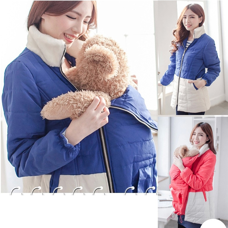 Emotion Moms Winter Maternity Clothes Maternity Coat n Clothes For Holding For Pregnant Women feeding Jackets 2 in 1 use enlarge