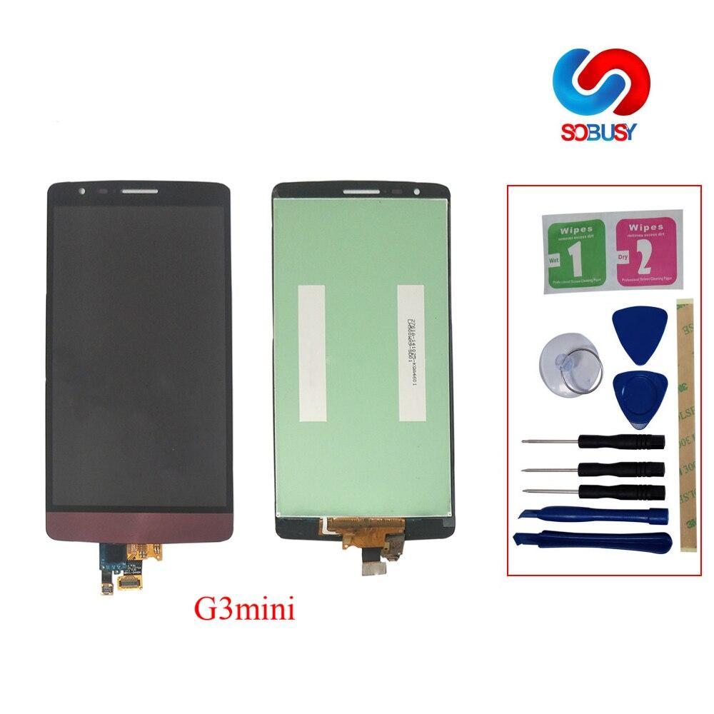 """100% probado 5,0 """"1280x720 para LG G3 S G3S D722 D724 D725 ORIGINAL para LG G3 Mini pantalla LCD con reemplazo del digitalizador de Marco"""