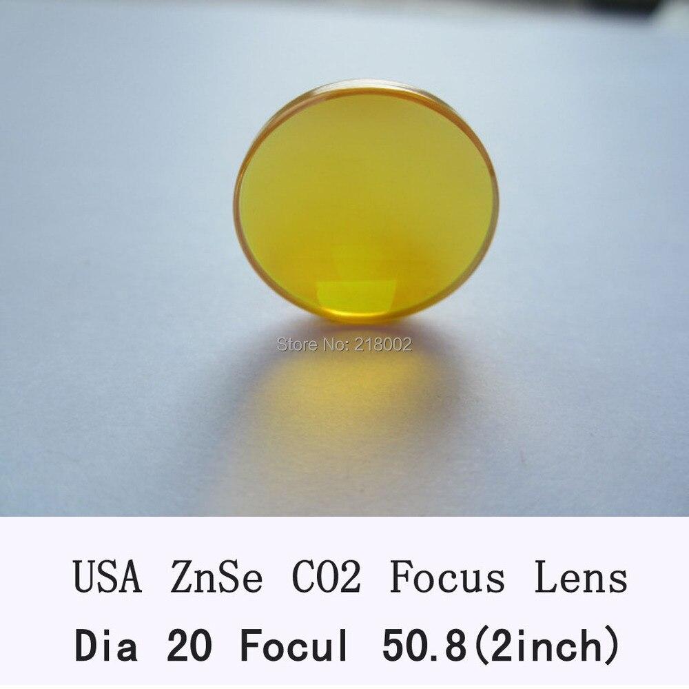 Hot sale USA CVD ZnSe Focus Lens 20mm Dia 50.8mm Focal for co2 laser cutting machine