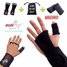 RUNTOP Crossfit WODS gants dentraînement Grip Pad entraînement haltérophilie cuir main paume protéger bracelet de poignet bretelles de soutien