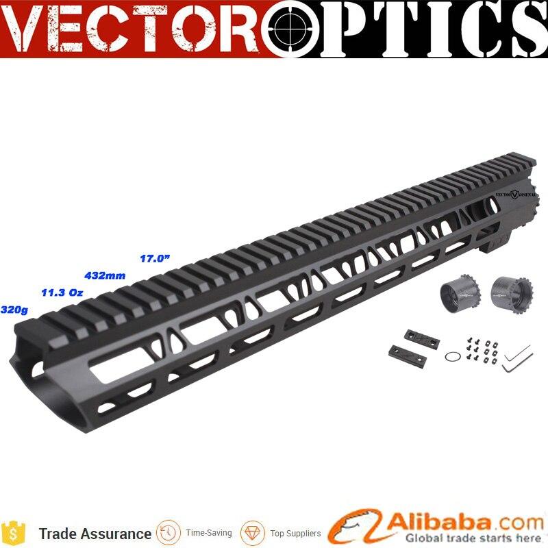 10 Uds Vector Optics Superlite Slim Slant Free Float 5,56mm AR15 AR-15 m-lok Rail Hanguard 17 pulgadas con accesorios m-lok