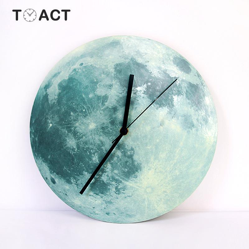 30 см креативные Светящиеся Настенные часы лунный свет светящиеся настенные часы современный дизайн Детские подвесные часы декор для детской комнаты