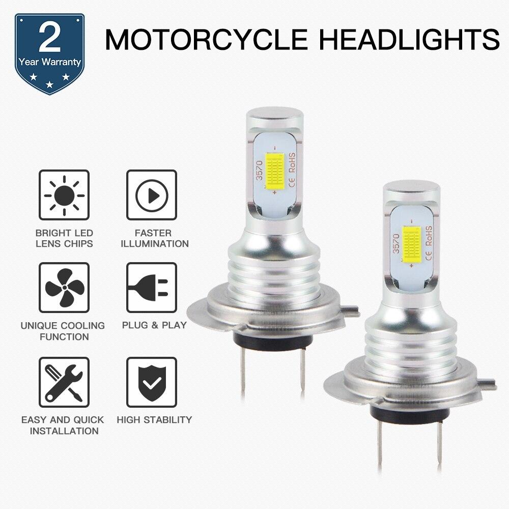 Motorcycle 100W LED Headlight Bulb Lamp For Ducati Diavel 1198 Hypermotard 796 1100 Monster 696 796 1000 Multistrada 620 ST3 ST4