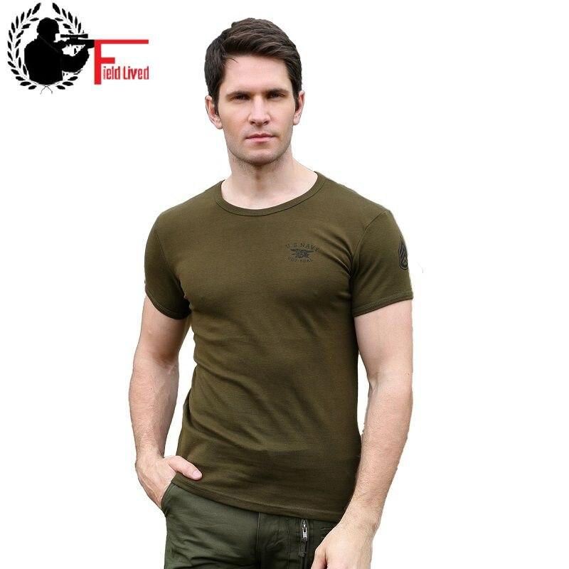 T Shirt Militärischen 2020 Sommer Slim Fit Einfarbig Soldat T-shirt Männer der Baumwolle Elastische Armee Stil Casual Männlichen T-shirt grün Khaki