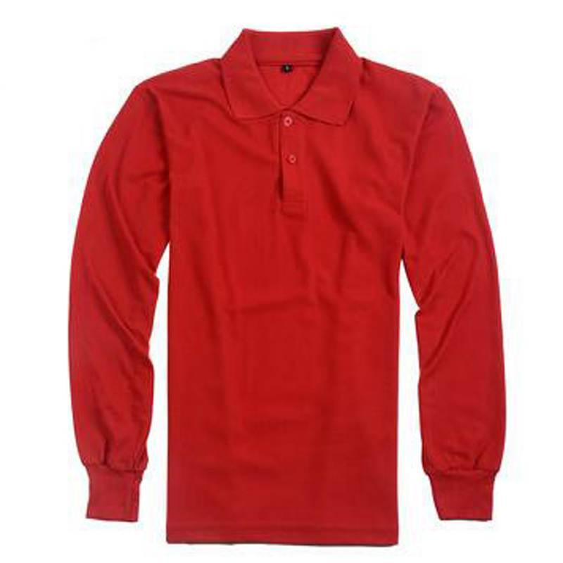 قميص بولو سادة للرجال والنساء غير رسمي بأكمام طويلة مقاس كبير من القطن مناسب للجنسين قميص بولو قابل للتنفس