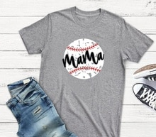 Kuakuayu HJN Baseball maman T-Shirt mignon drôle maman chemise Softball T-Shirt cadeau pour maman