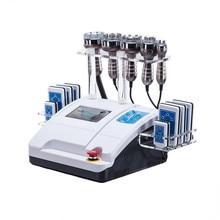 6 en 1 ultrasons liposuccion 40K Cavitation vide tripolaire multipolaire RF Diode laser minceur radiofréquence