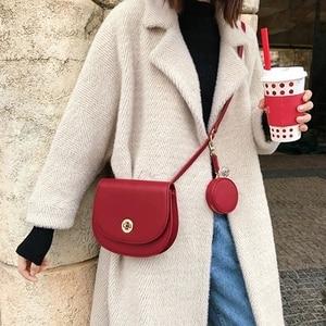 Casual Saddle Bags for Women Handbags Semicircle Irregular PU Leather Shoulder Messenger Bags Lady Brands small Capacity Bolsa