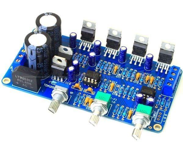 TDA2030A 2.1 Stereo Amp 2 Canal Subwoofer Placa Amplificador de Áudio kits DIY 12V AC Dupla