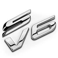 1 pcs s v6 car emblem stick car chrome badge emblem genuine oem titanium mkv kuga ecosport car styling