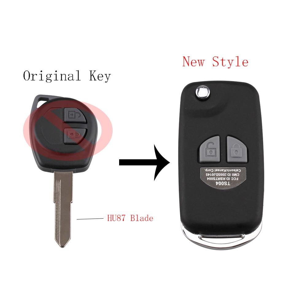 Neue Stil Folding Remote Key Fall Shell Für Suzuki Igins Alto SX4 Vauxhall Agila 2005-2010 + Taste Pad