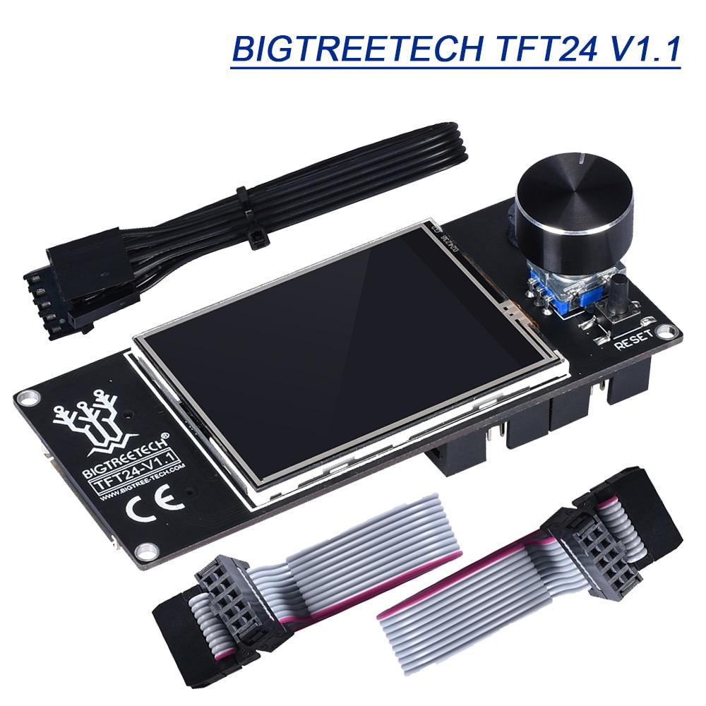 BIGTREETECH TFT24 V1.1 pantalla táctil LCD 12864 modos de Marlin 3D piezas de la impresora SKR V1.3 para Ender 3 UART serie 5V Panel TFT35