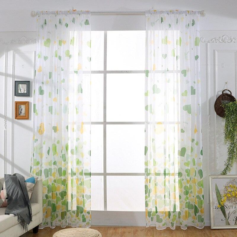 Cortina pura de tul, ventana, puerta, balcón, cortina para sala, Panel, bufanda, cenefa, estilo fresco S276 y 30