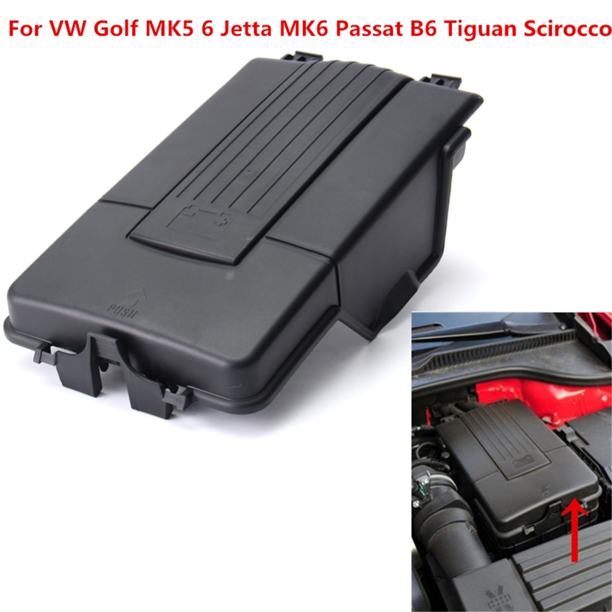 Car Battery Cover Top Lid Tray For VW Golf MK5 6 Jetta MK6 Passat B6 Tiguan Scirocco Plastic  1K0 915 443 A /3C0 915 443 A
