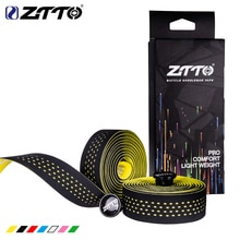ZTTO yumuşak yol bisikleti bisiklet gidon bandı mantar EVA PU gidon bant profesyonel bisiklet sönümleme Anti titreşim Wrap