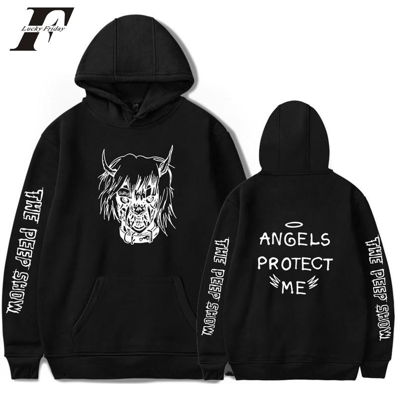 Lil Peep ANGELS PROTECT ME Hoodies Sweatshirts Men/Women cotton Long Sleeve Streetwear Hip Hop Pullover Clothes Plus Size