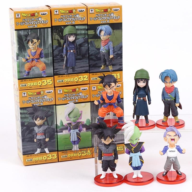 Dragon Ball Super vol.6 Son Gohan Goku Black Trunks Mai Zamasu PVC Figures Collectible Model Toys 6pcs/set 8cm