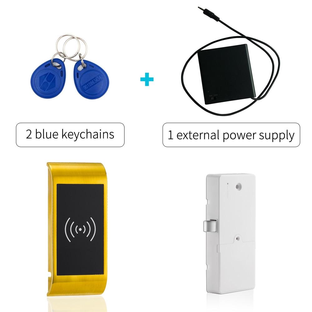 125khz Smart rfid cabinet lock keyless gym locker lock  for Metal and wooden cabinet