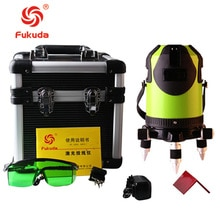 Fukuda 8 lignes FLE444G batterie au lithium niveau laser vert 360 niveau Laser à ligne transversale auto-nivelante verticale et horizontale