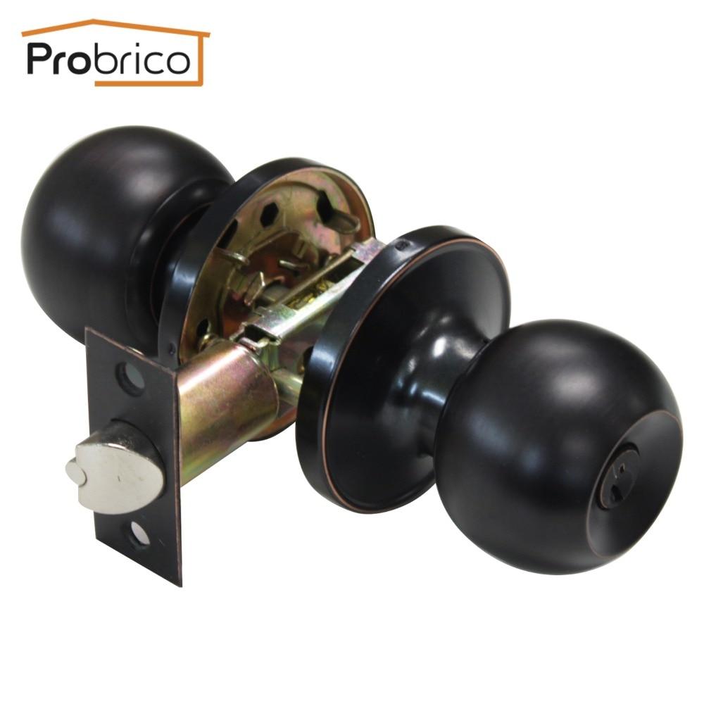 Probrico дверные ручки для внутренней безопасности замок с ключом из нержавеющей