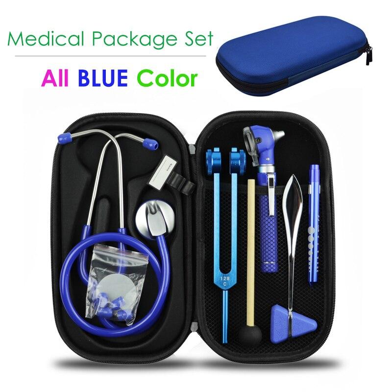 Медицинский жесткий чехол для хранения со стетоскопом, тюнинг, вилка, рефлекторный молот, светодиодный фонарик, инструмент