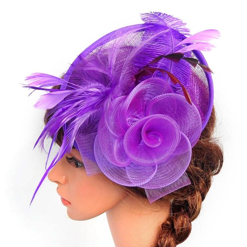 Women Chic Fascinator Hat Cocktail Wedding Party Church Headpiece Headband