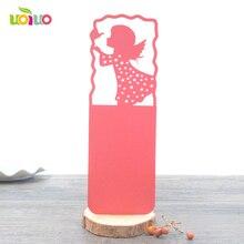 100pcs litter girl design party gift laser cut Wedding favor bookmark
