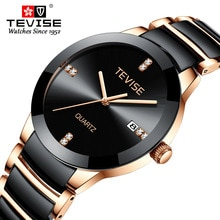 TEVISE Man Watch 2020 Luxury Brand Quartz Wristwatch Mens Ceramic Casual Personality Male Clock erke