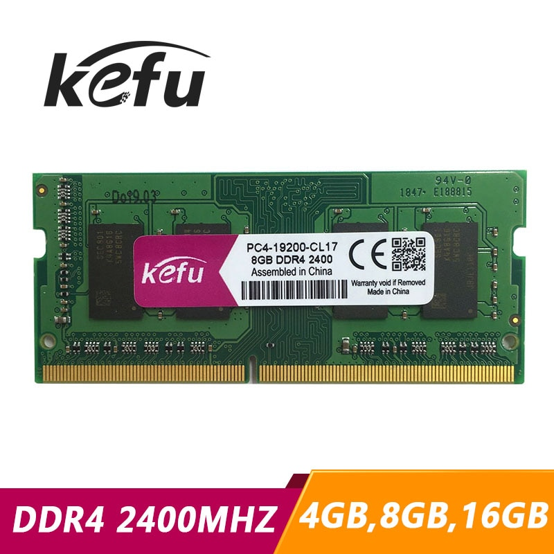 Kefu ddr4 memória ddr4, 4gb 8gb 16gb 4g 8g 16g 2400 mhz memoria sodimm ram ddr 4 2400 mhz compatível laptop notebook e mini pc