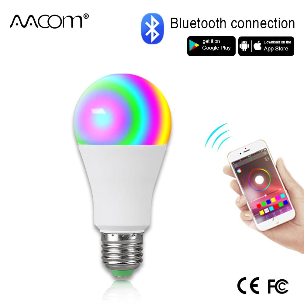 Ampulle LED E27 Drahtlose Bluetooth Smart Birne 15W 85-265V RGBW LED Glühbirne Musik Control 20 modi gelten für IOS/Android