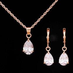 Набор ювелирных изделий для женщин, набор ювелирных изделий золотого цвета с кристаллами из фианита