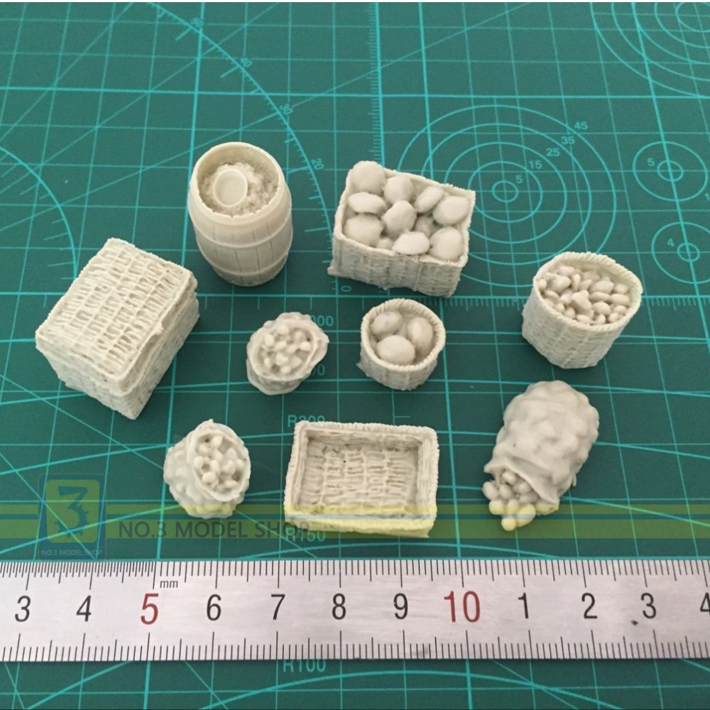 1/35 modelos de resina soldados accesorios de escena cestas de comida y pan