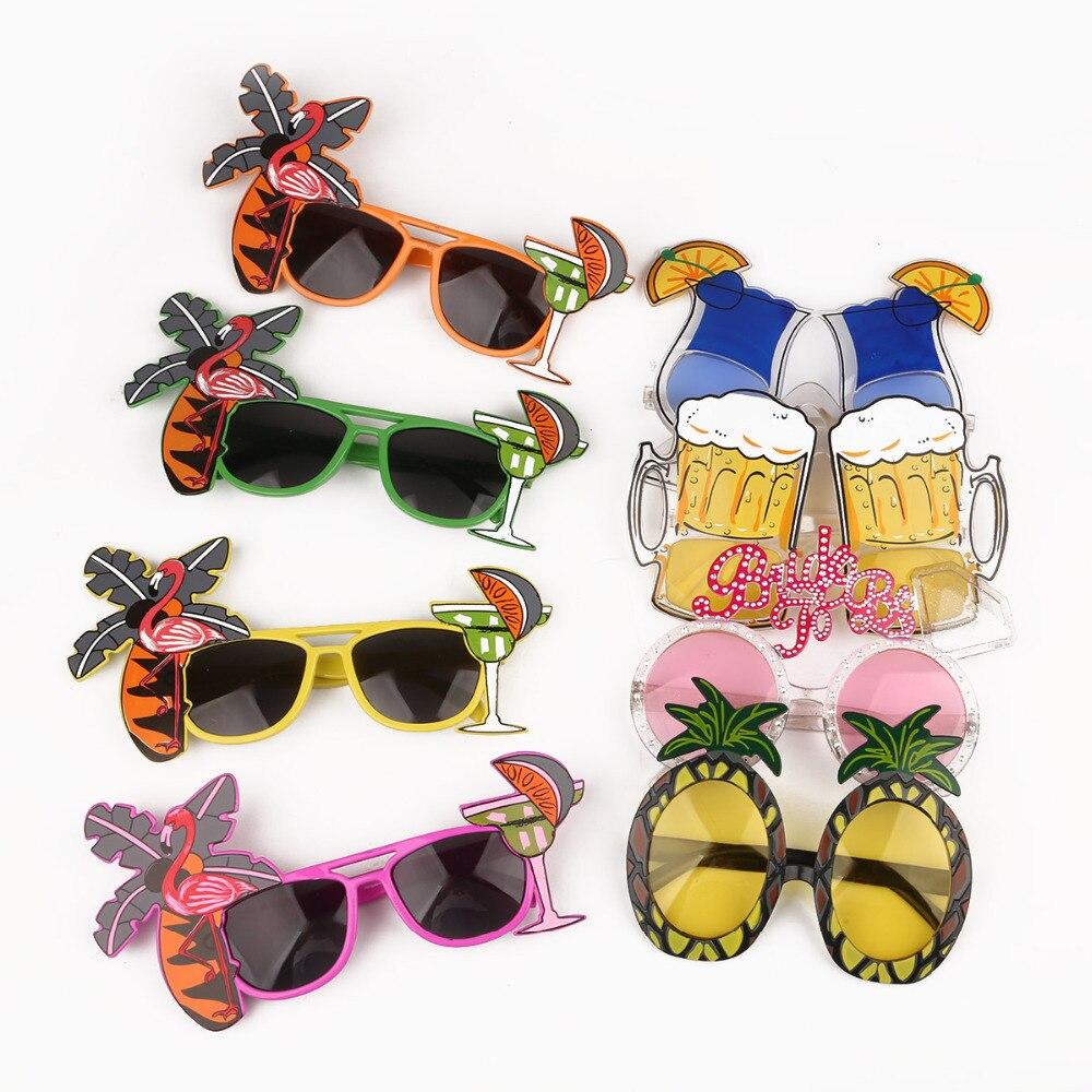 Hawaii Beach novedad piña cerveza gafas de sol gafas despedida de soltera gallina noche fiesta gafas carnaval fiesta Decoración