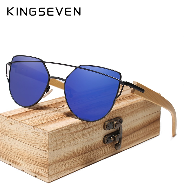 KINGSEVEN Handmade Wood Sunglasses Men Bamboo Sunglass Women Brand Design Original Wood Glasses Ocul