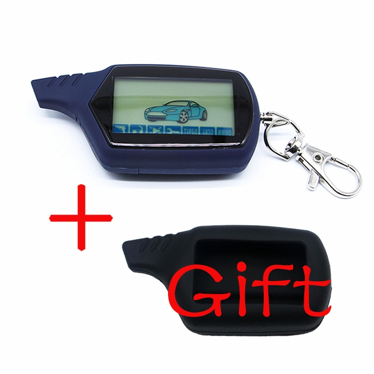 A61 2-way LCD Remote Control Key Fob Chain Keychain A61 dialog Russian Vehicle Security Two Way Car