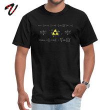Légende de Zelda T-shirt hommes Hyrule T-shirt Triangle impression t-shirts mathématiques étudiants t-shirts Geek hauts mode noir Gamer Streetwear