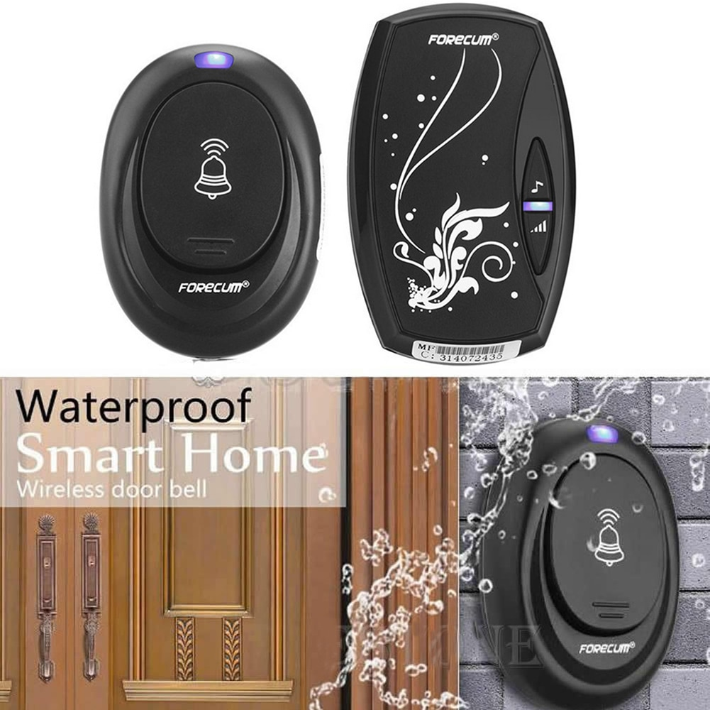 Timbre inalámbrico a prueba de agua con 36 campanillas receptor único EU/US Plug-in tipo timbre de puerta inalámbrico timbre de puerta inteligente