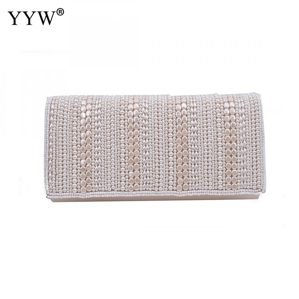 YYW-Bolso estilo Clutch con perlas para mujer, Bolso de mano femenino de...