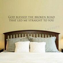 Бесплатная доставка, наклейки на стену, декор для спальни, религиозная Наклейка на стену, наклейка-God Led Me прямо к вам
