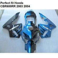 혼다 블루 블랙 CBR600RR 2003 2004 페어링 키트 CBR 600RR F5 YJ60 용 고품질 ABS 페어링