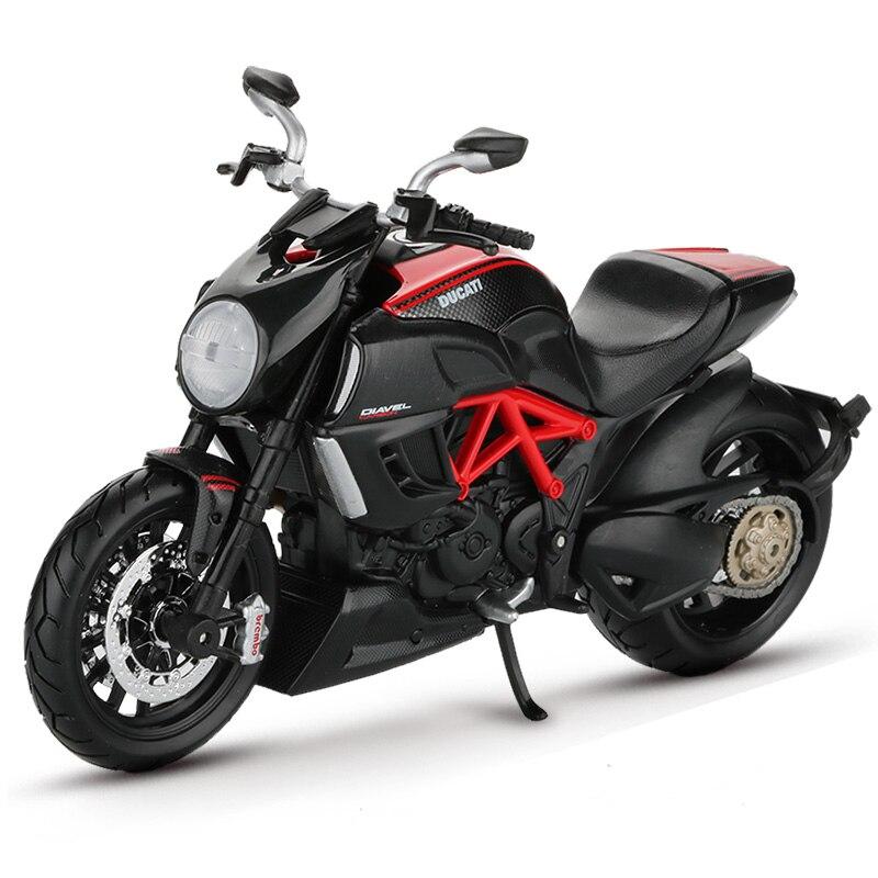 Maisto 112 motocicleta modelo de juguete aleación motocicleta Motor de coche de carreras bicicletas motocicletas Diavel carbono