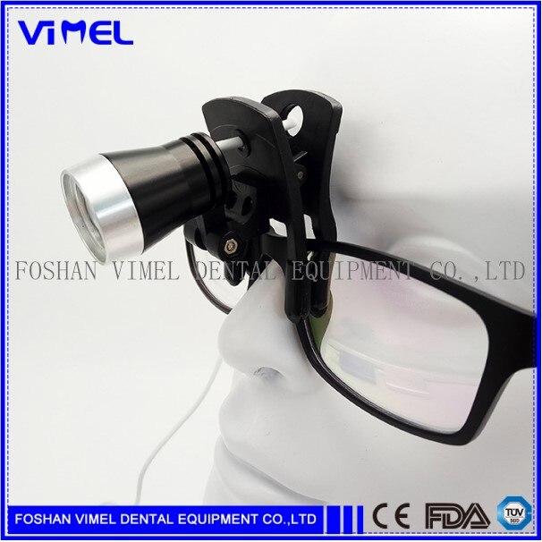 Gran oferta lámpara de luz de cabeza LED en Color negro para lupa Binocular Dental quirúrgica médica + Adaptador + batería