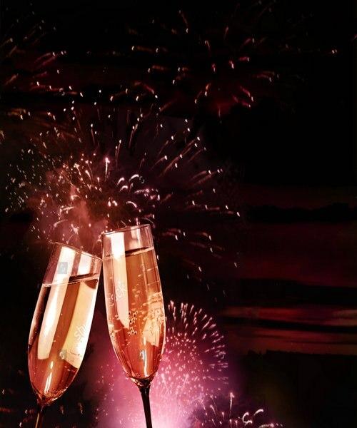 Boda fuegos artificiales champán gafas púrpura telón de fondo de poliéster o tela de vinilo de alta calidad impresión de la computadora de fondo de pared