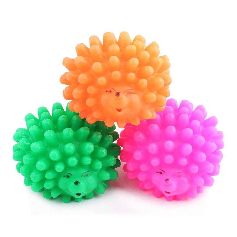 Novo cão brinquedos clássico pequeno ouriço animal de estimação mastigar rangido pippu brinquedo tamanho pequeno cão bola brinquedos para animais de estimação cor aleatória frete grátis