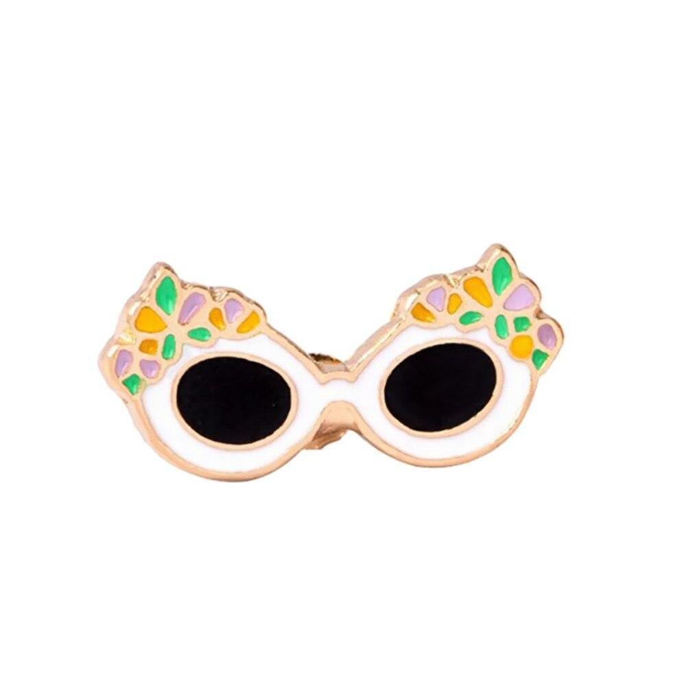 Moda palmera helado de flamenco paletas gafas de sol café Pines de taza botón broche de Metal